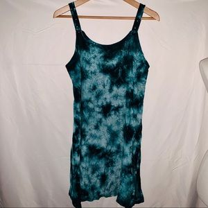 BECCA'S IMPORTS Embroidered Tie Dye Sundress - OS